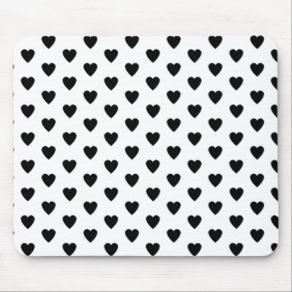 Black Hearts pattern background Mouse Pad