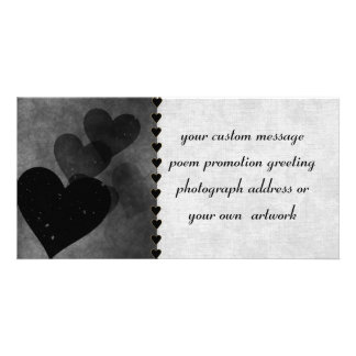 Black Hearts Pattern Picture Card