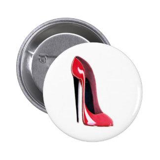 Black heel, red stiletto shoe pin