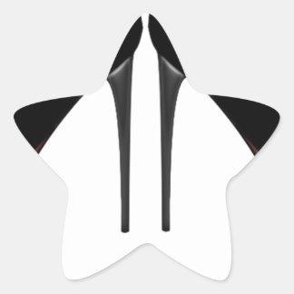 Black Heels Star Sticker