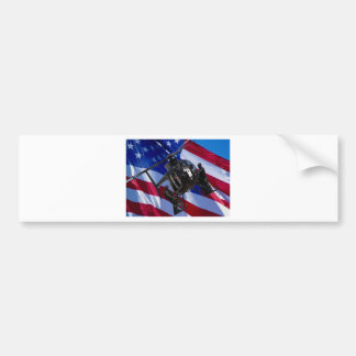 Black helicopter bumper sticker