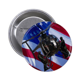 Black helicopter pinback button