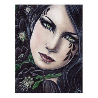 Black Hellebore Fantasy Postcard