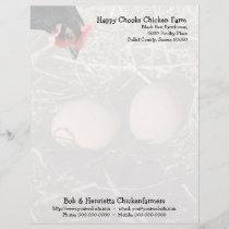 Black hen and eggs letterhead