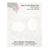Black hen and eggs letterhead
