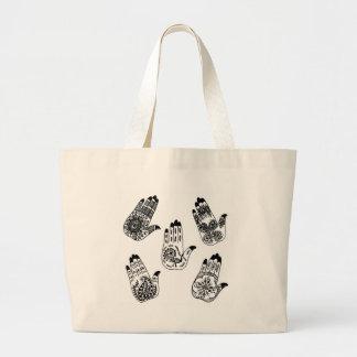 Black Henna Tattoo Hands Bags