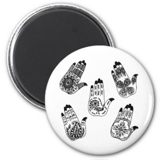 Black Henna Tattoo Hands Magnet