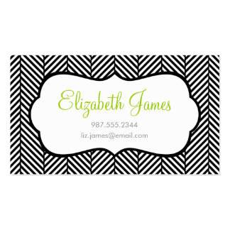 Black Herringbone Double-Sided Standard Business Cards (Pack Of 100)