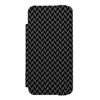Black Herringbone iPhone 5 Wallet Case