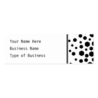 Black Hexagons. Double-Sided Mini Business Cards (Pack Of 20)