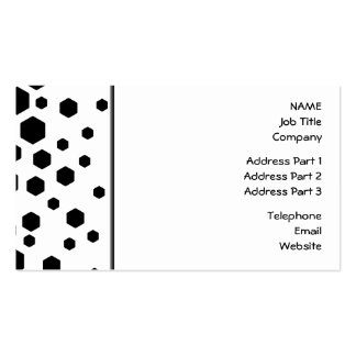 Black Hexagons. Double-Sided Standard Business Cards (Pack Of 100)