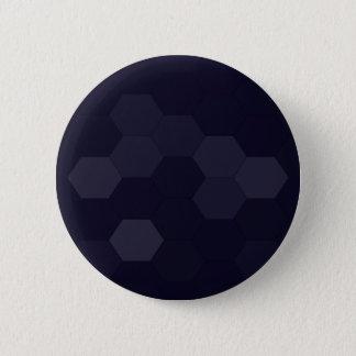 Black Hexagons Button