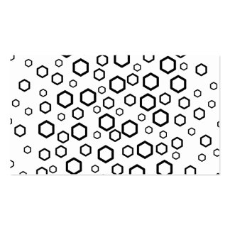 Black Hexagons. Pattern. Double-Sided Standard Business Cards (Pack Of 100)