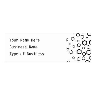 Black Hexagons. Pattern. Mini Business Card