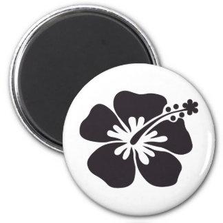 black hibiscus flower magnet