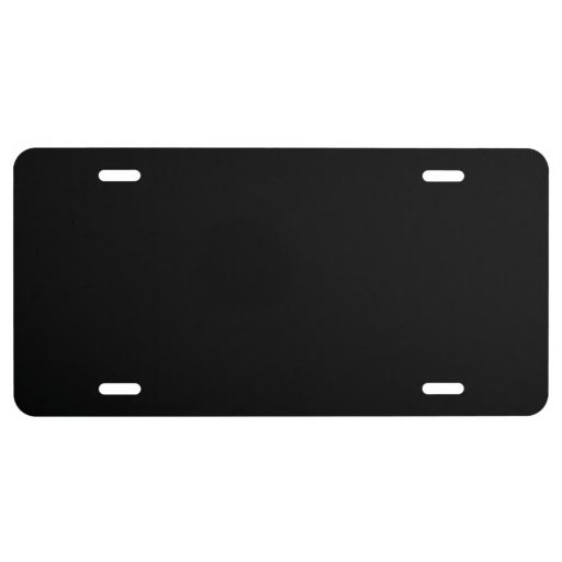Black High End Colored License Plate