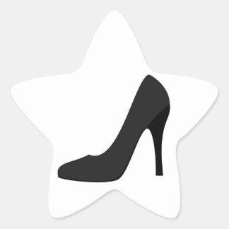 Black High Heel Star Sticker