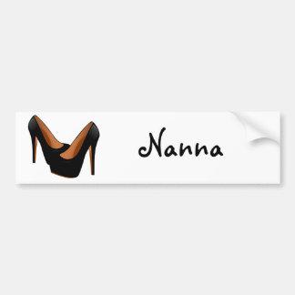 Black High Heels Bumper Sticker