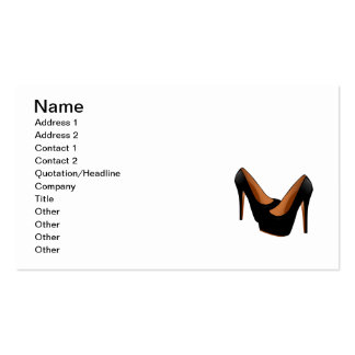 Black High Heels Business Card Template