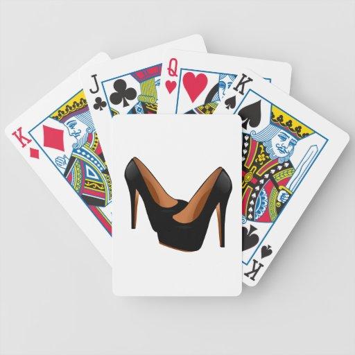 Black High Heels Card Decks