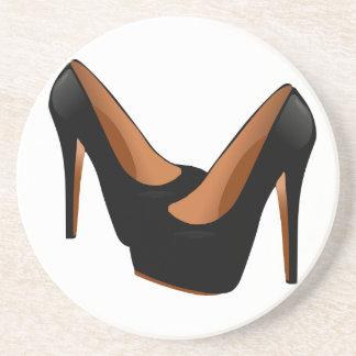 Black High Heels Coaster