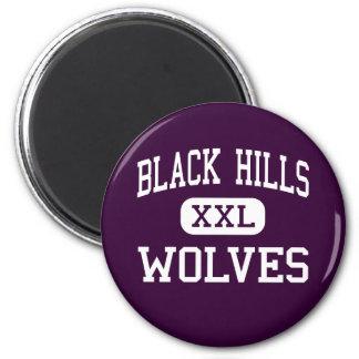 Black Hills - lobos - alto - Tumwater Washington Imán Redondo 5 Cm