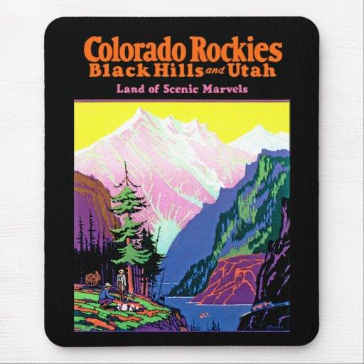 ~ Black Hills y Utah de los Colorado Rockies Alfombrillas De Raton