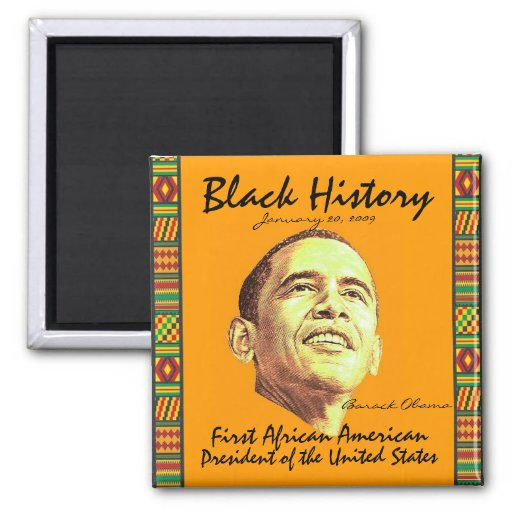Black History 2 Inch Square Magnet