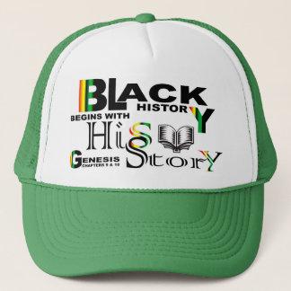 Black History - hiS-Story© Hat-Grn Trucker Hat