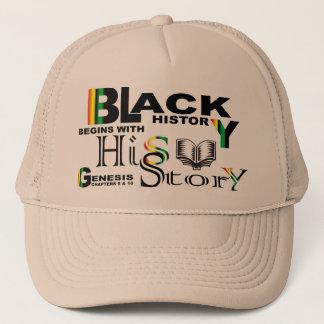 Black History - hiS-Story© Hat-Khaki Trucker Hat