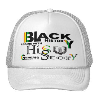 Black History - hiS-Story© Hat-White Trucker Hat