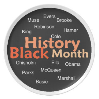 Black History Melamine Plate