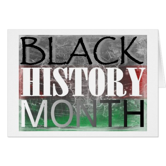 Black History Month (African Flag) Card