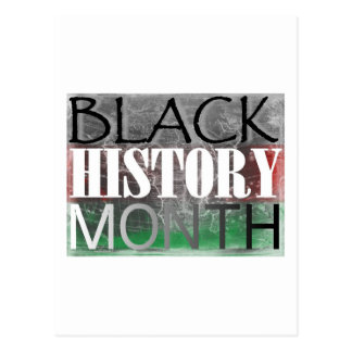 Black History Month (African Flag) Post Card