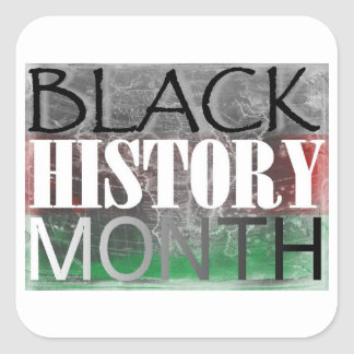 Black History Month (African Flag) Square Sticker
