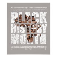 Black History Month African Roots. Photo Print