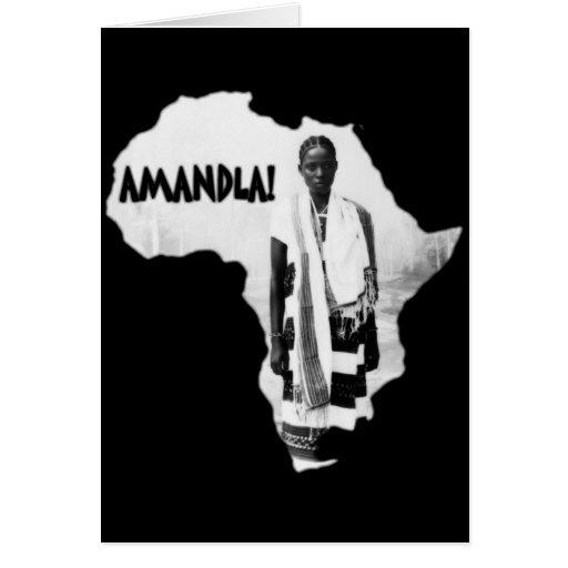 Black History Month - AMANDLA! Greeting Cards