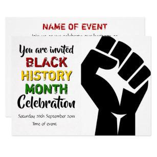1a4cc9fea0cb BLACK HISTORY MONTH Event Party Celebration Invitation