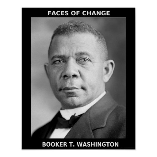 Black History Month Heroes - Booker T. Washington Poster
