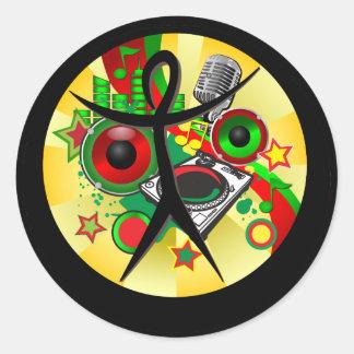 Black History Month Music Sticker