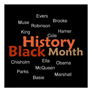 BLACK HISTORY MONTH POSTER Print