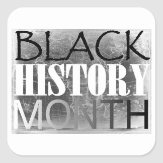 Black History Month Square Sticker