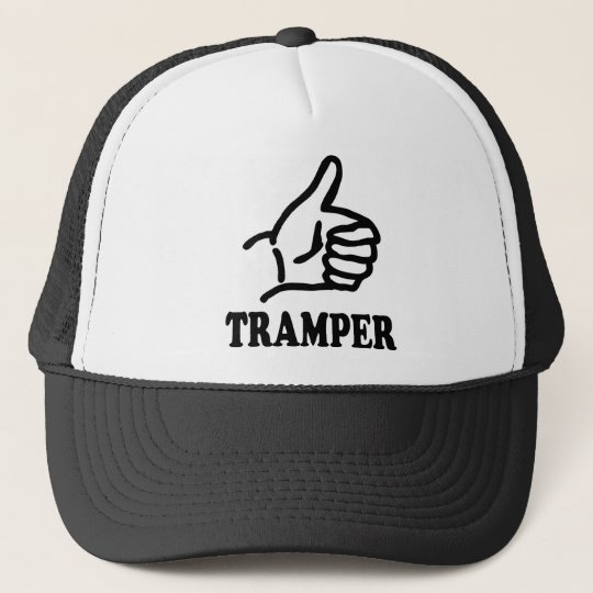 black hitchhiker icon trucker hat