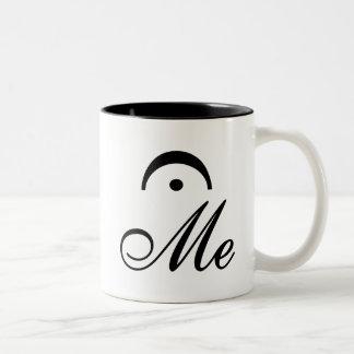 Black Hold (Fermata) Me Two-Tone Coffee Mug