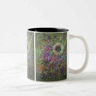 Black Hole Abstract Design Two-Tone Coffee Mug