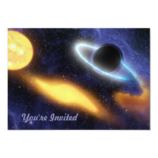 Black Hole and Star Card