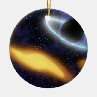 Black Hole and Star Ceramic Ornament