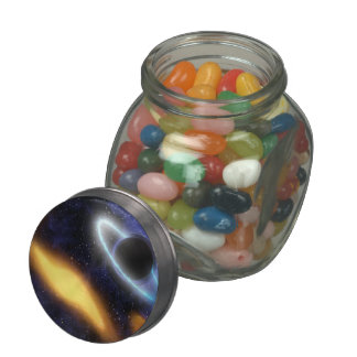 Black Hole and Star Jelly Belly Candy Jar