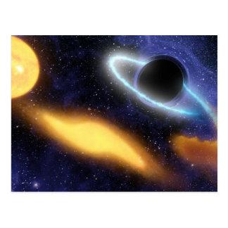 Black Hole and Star Postcard