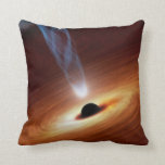 Black Hole Astronomy Space Art Pillow